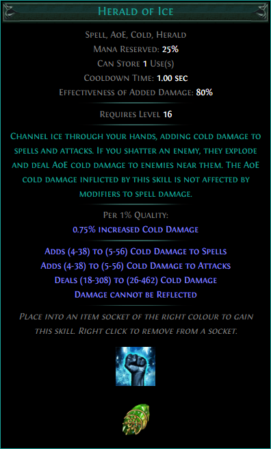 Buy POE | Herald of Ice at We Grind Games