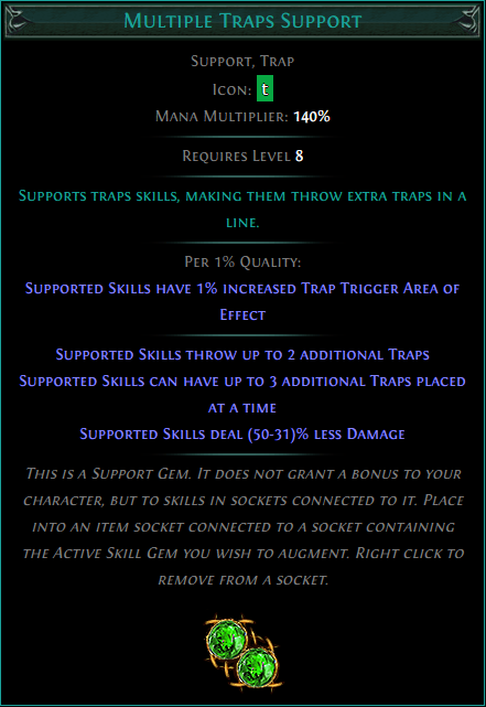 Buy POE | Multiple Traps Support at We Grind Games