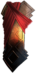 Buy POE |  Redblade Banner, Painted Tower Shield at We Grind Games