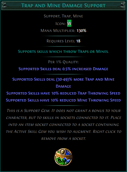Buy POE | Trap and Mine Damage Support at We Grind Games