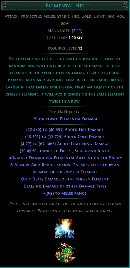 Buy POE | Elemental Hit at We Grind Games