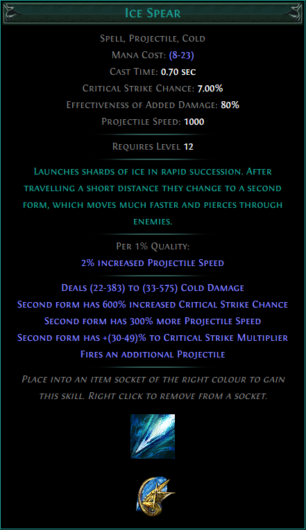 Buy POE | Ice Spear at We Grind Games