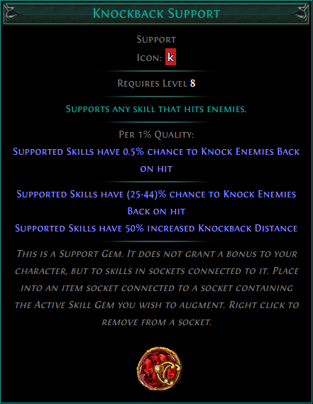 Buy POE | Knockback Support at We Grind Games