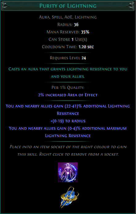 Buy POE | Purity of Lightning at We Grind Games