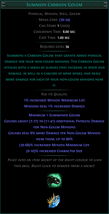 Buy POE | Summon Carrion Golem at We Grind Games