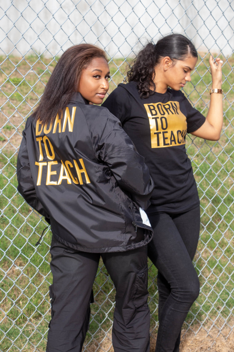Born To Teach BLACK OUT windbreaker jacket