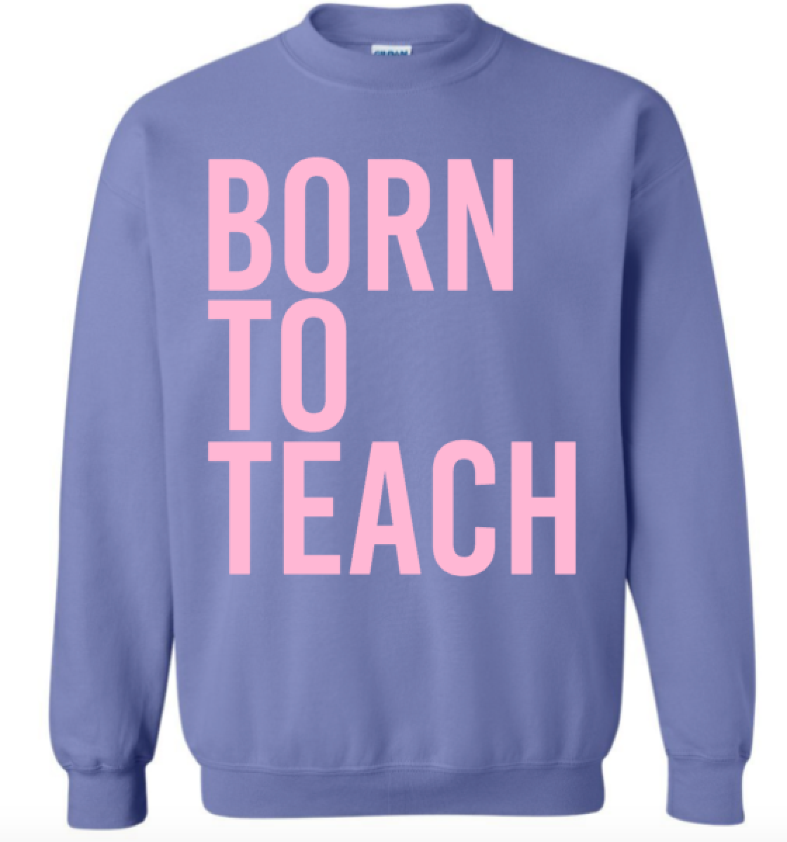 Born to Teach (violet w/pink sweatshirt)
