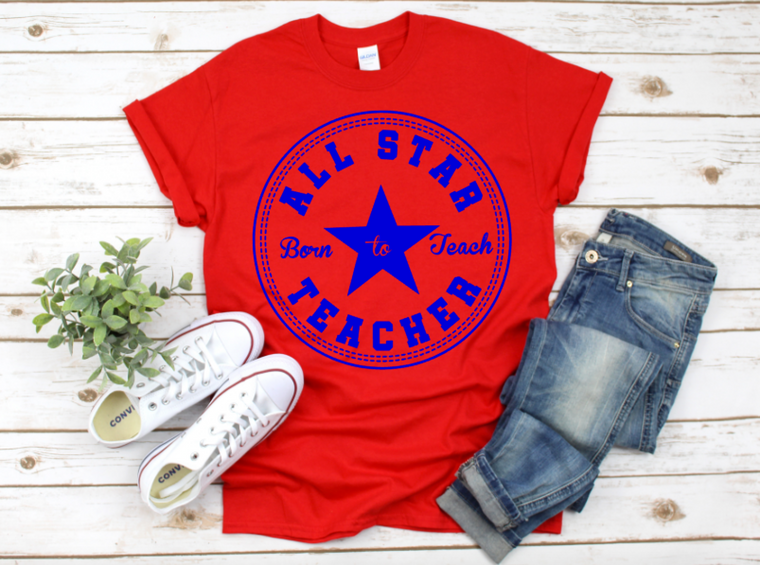 All Star Teacher (red/blue)