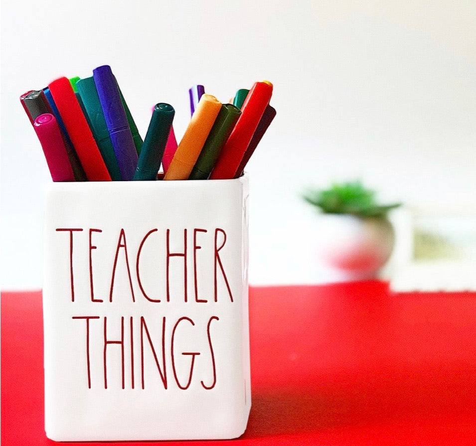 Rae Dunn Teacher Things Holder