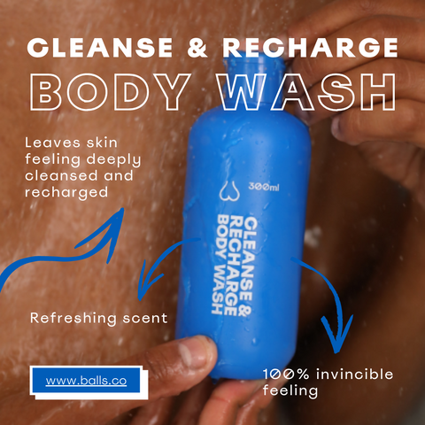 Balls Body Wash - Leaves Skin Feeling Cleansed & Recharged