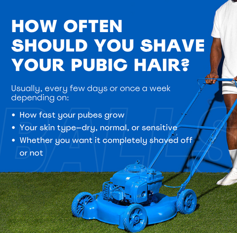 How Often Should You Shave Your Pubic Hair - How fast do your pubes grow, Skin Type, What length you want it