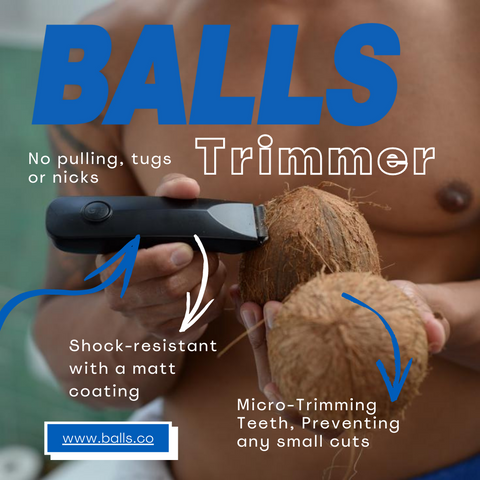 Balls Trimmer - No Pulling, tugs, or nicks. Shock resistant & prevents small cuts