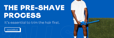 Pre-Shave Process: Its essential to trim the hair first
