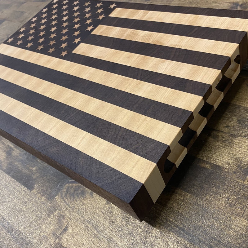 American Flag End-Grain Cutting Board