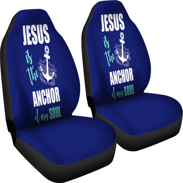 Jesus Is The Anchor Car Seat Cover