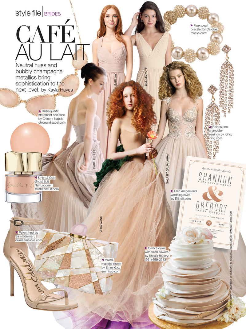 Bridal Guide Features the 'Guggenheim' in it's November/December Issue 2018