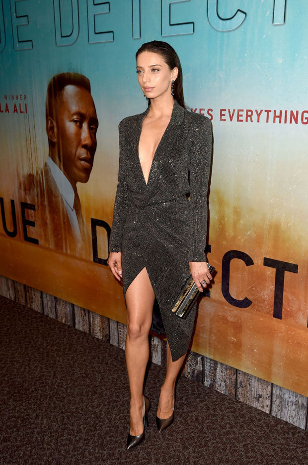 Angela  Sarafyan carries the 'Costes' to the True Detective Premiere in L.A