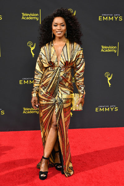 Angela Basset Carries the 'Wynwood Clutch' to the 2019 Creative Arts Emmys Awards