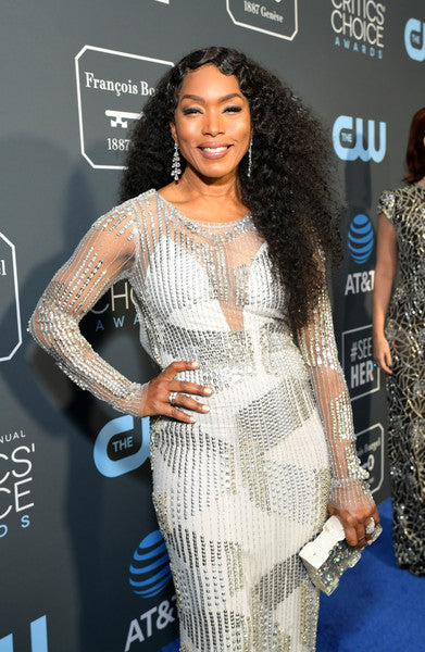 Angela Bassett carries the 'Wynwood' clutch to the Critics' Choice Awards 2019