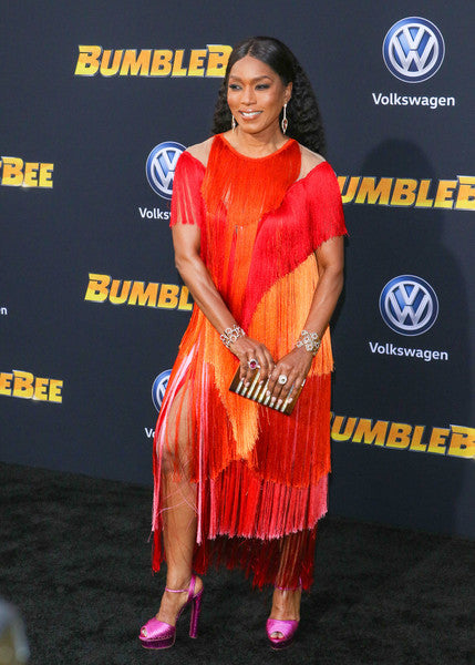 Angela Basset carries the 'Rodeo' to the Los Angeles premiere of Bumblebee.