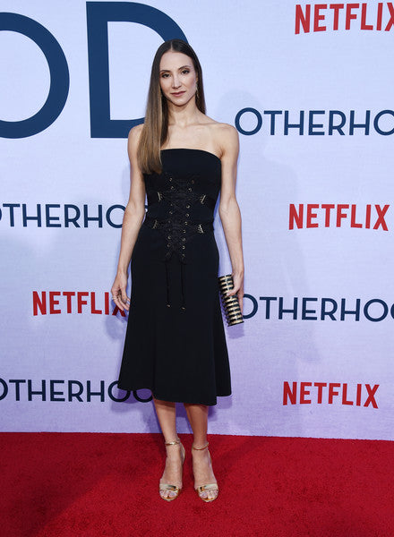 Christine Shevchenko Carries the 'Rodeo Clutch' at the photo call for Netflix's Otherhood in Hollywood