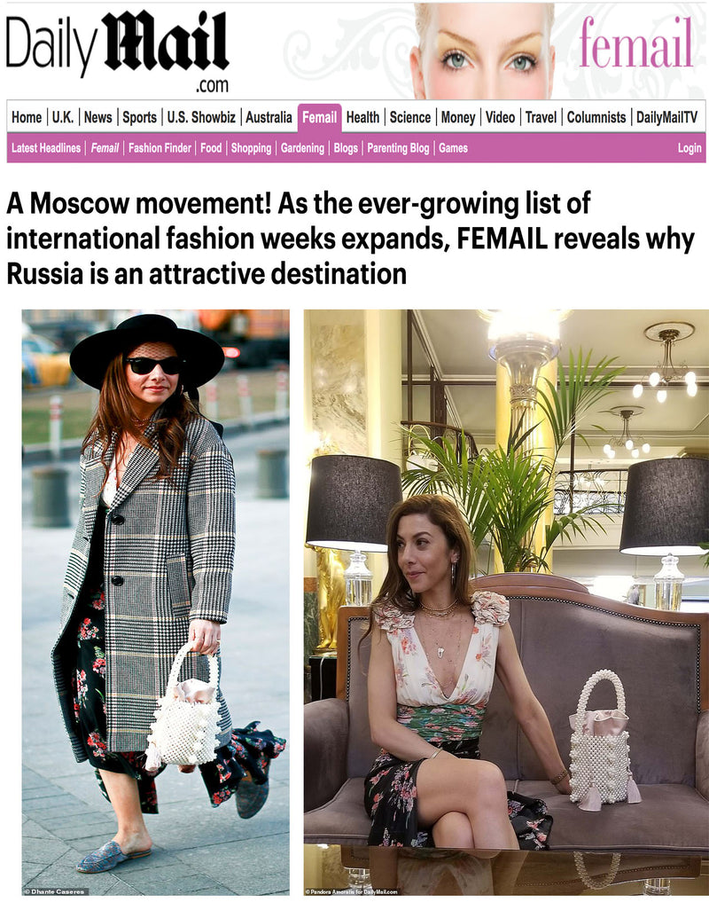 Daily Mail features 'The Ravelo' in New Article on Russia Fashion Week
