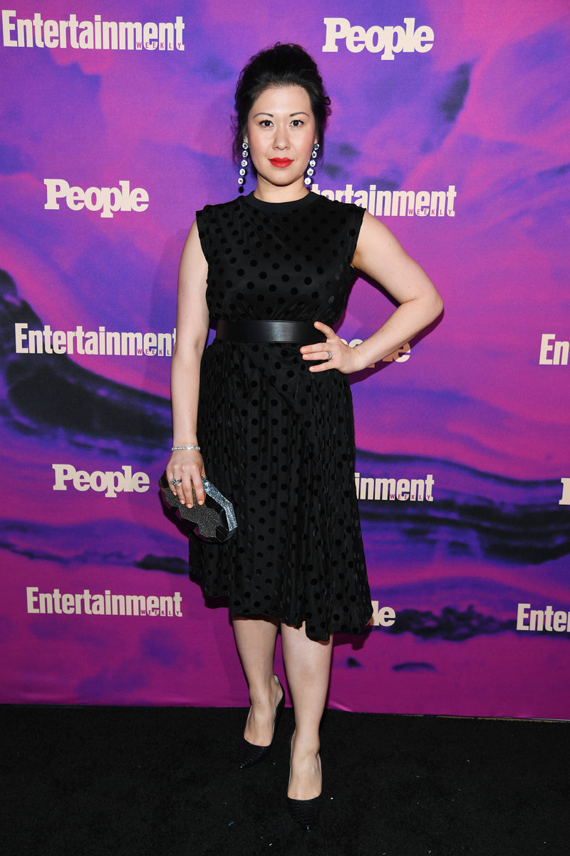 Ruthie Ann Miles carries the 'Viera' clutch to the People & Entertainment Weekly 2019  Upfronts