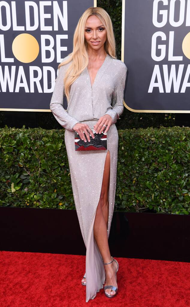 Giuliana Rancic carries the 'Abrolhos' to the 77th Golden Globes