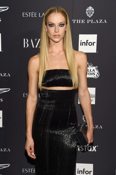 Hannah Ferguson Carries the 'Rodeo' to the Harper's Bazaar Icon Party