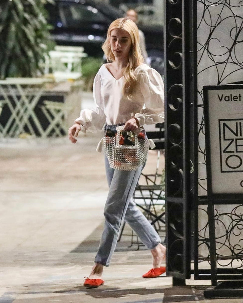 Emma Roberts carries the 'Riviera' bag in Los Angeles