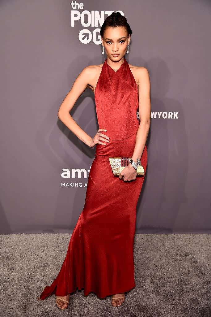 Lameka Fox carries the 'Joa' to the Amfar Gala, NYC