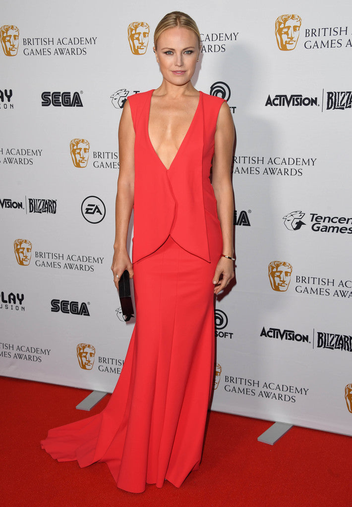MALIN AKERMAN CARRIES THE 'ZIGGY' TO THE BAFTA