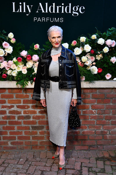 Maye Musk Carries 'The Ludlow' at the Lily Aldridge parfums launch event in NYC