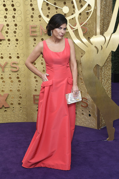Nilou Motamed Carries the 'Mullholland Clutch' to the 71st Emmy's Awards in Los Angeles