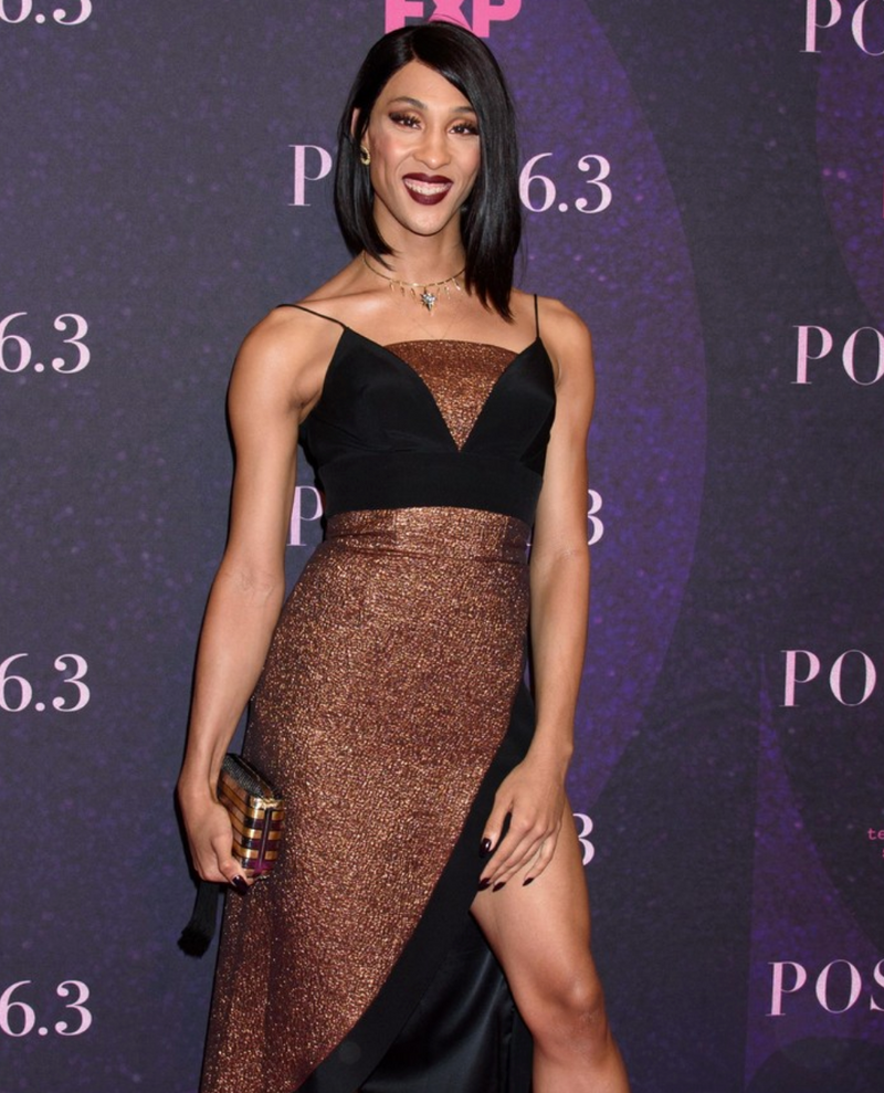 MJ RODRIGUEZ CARRIES THE 'GATSBY' TO THE FX TV POSE PREMIERE – MAY 17TH, 2018