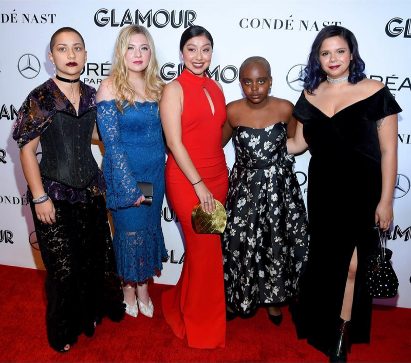 Edna Chavez Carries the 'Ginza' & Samantha Fuentes Carries the 'Sontos' to the Glamour Woman of the Year Awards