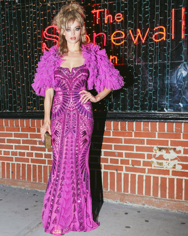 Hannah Ferguson Carries 'Rodeo' to The Pre Met Gala Cotton Campy Party in NYC