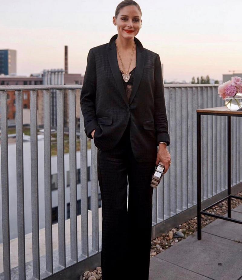 Olivia Palermo carries the 'Tate Clutch' to The KarlxOlivia Event in Berlin