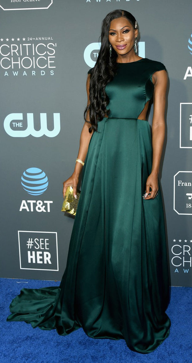 Dominique Jackson carries the ' Abrolhos' to the Critics' Choice Awards 2019