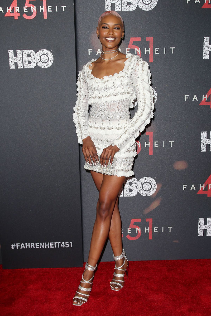 SHARAM DINIZ CARRIES THE 'WYNWOOD' TO THE FAHRENHEIT 451 PREMIERE – MAY 15TH, 2018