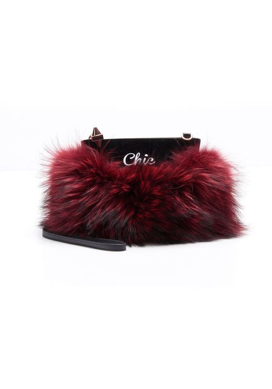 MAJORELLE FUR POUCH - COOL/CHIC