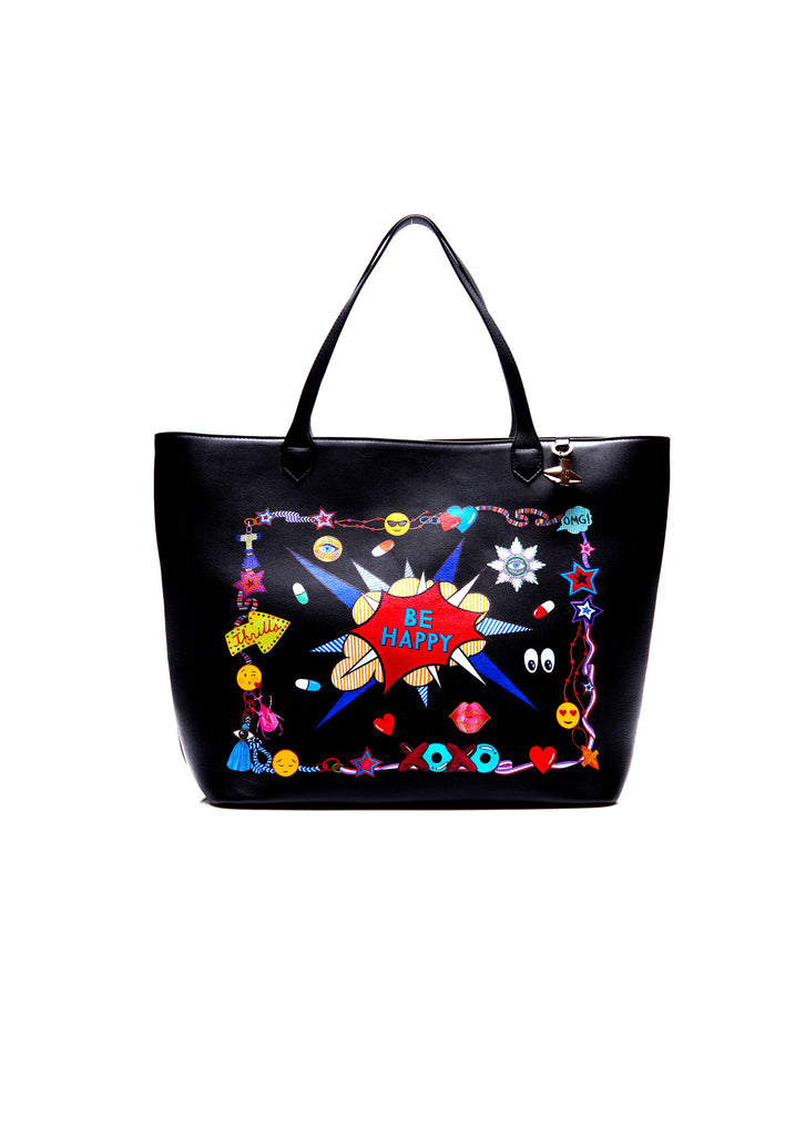 Greenwich Leather Tote, Be Happy