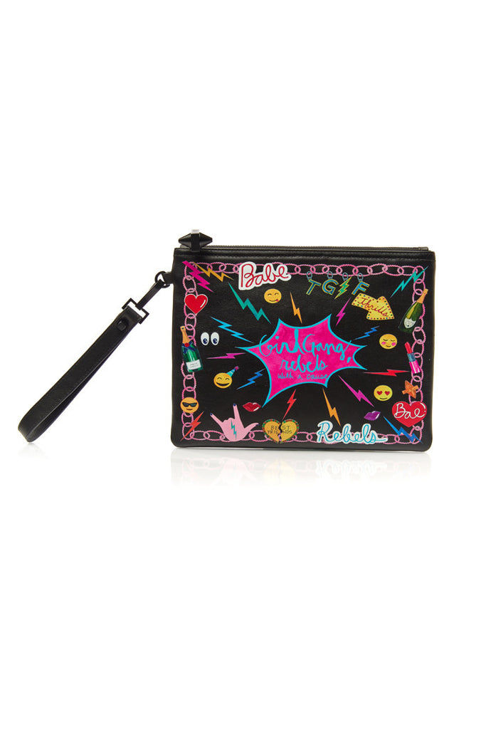 Paloma Pouch, Girl Gang- Black