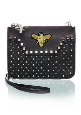 Custom Studded Black Crossbody BEE-OPTION TWO