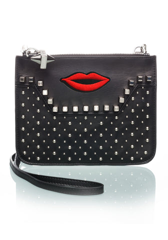 Studded Black Crossbody LIPS-OPTION THREE