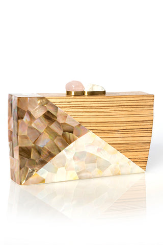 Gehry Evening Clutch-MOP and Rose