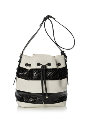 Venice Beach Bucketbag XL Black Python