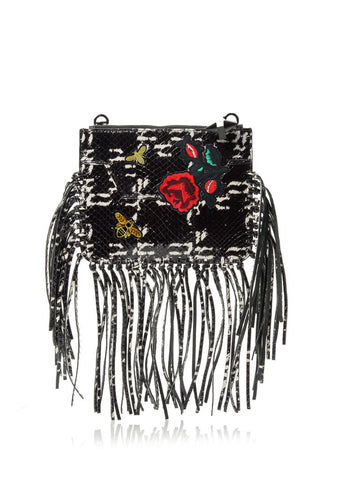 Majorelle Snakeskin Fringe-OPTION TWO