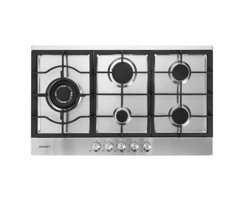 Gas Cooktop 90cm Kitchen Stove Cooker 5 Burner