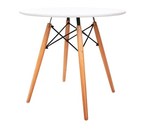 Round Dining Table 4 Seater 80cm White Replica Eames
